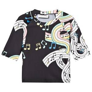 Mini Rodini Unisex Swimwear and coverups Black Melody UV Top Black