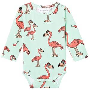 Tao&friends; Unisex All in ones Green Flamingon Baby Body Mint