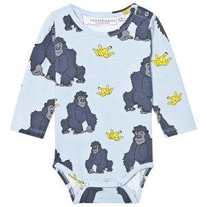 Tao&friends; Unisex All in ones Blue Gorillan Baby Body Blue