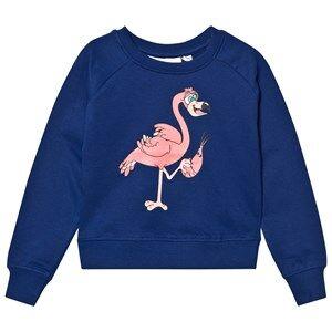 Tao&friends; Unisex Jumpers and knitwear Blue Flamingon Sweatshirt Marine
