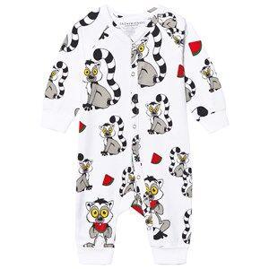 Tao&friends; Unisex Nightwear White Lemuren One-Piece White