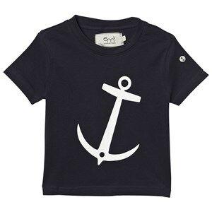 Emma och Malena Unisex Tops Navy T-shirt Anchor Navy