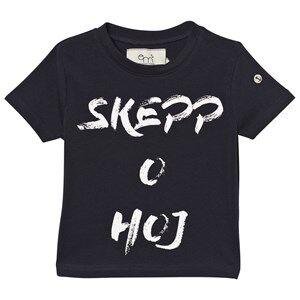 Emma och Malena Unisex Tops Navy T-shirt Skepp O Hoj Navy