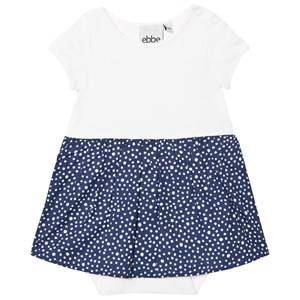 eBBe Kids Girls Dresses Blue Crop Baby Dress Dotted Midnight Blue