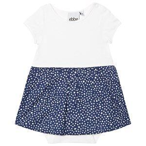 eBBe Kids Girls Dresses Blue Crop Baby Dress Dotted Midnight Blue