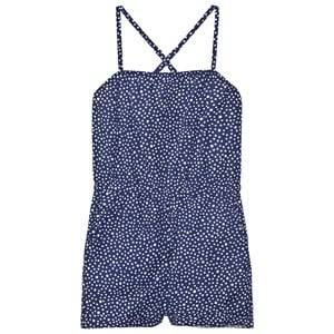 Image of eBBe Kids Girls All in ones Blue Charlene Jumpsuit Dotted Midnight Blue