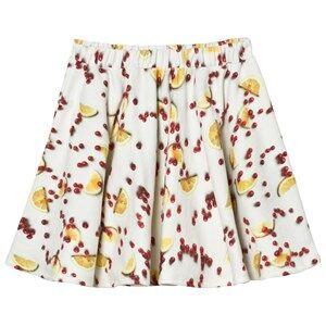 Popupshop Girls Skirts White Base Skirt Fruit