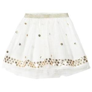 Billieblush Girls Skirts White Off White Sequin Spot Tutu Skirt