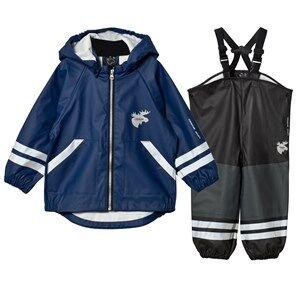 Lindberg Boys Clothing sets Navy Capri Rain Set Navy