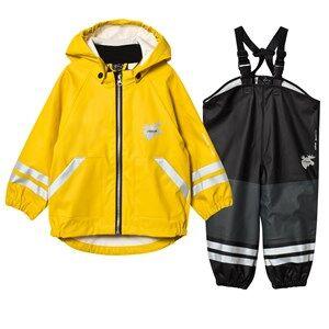 Lindberg Unisex Clothing sets Capri Rain Set Yellow
