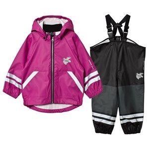 Lindberg Girls Clothing sets Purple Capri Rain Set Deep Orchid