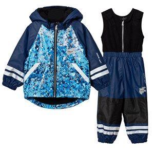 Lindberg Boys Clothing sets Navy Brastad Rain Set Flee Navy