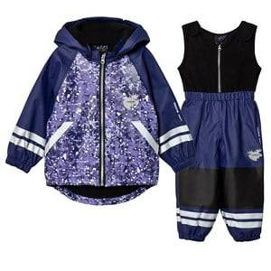 Lindberg Girls Clothing sets Brastad Rain Set Flee Lilac