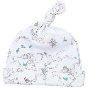 Livly Girls Headwear White Tossie Hat Pink World Map