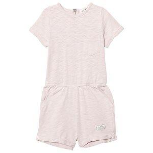 Image of I Dig Denim Girls All in ones Pink Lone Romper Pink