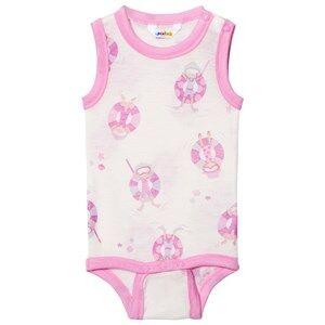 Joha Girls All in ones Pink Sleeveless Baby Body Pink Beach Life Print