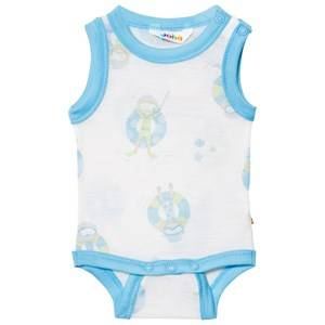 Joha Girls All in ones Blue Sleeveless Baby Body Blue Beach Life Print