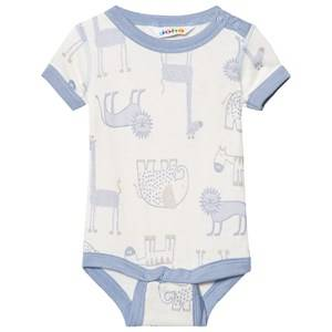 Joha Girls All in ones Blue Zoo Short Sleeve Baby Body Forever Blue