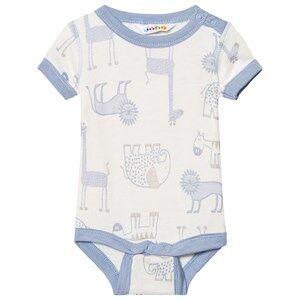 Joha Girls All in ones Blue Zoo Short Sleeve Baby Body Forever Blue