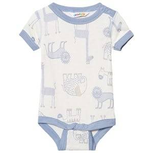 Image of Joha Girls All in ones Blue Zoo Short Sleeve Baby Body Forever Blue