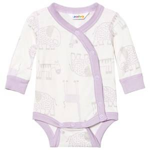 Image of Joha Girls All in ones Zoo Baby Body With Side Closing Fair Orchid