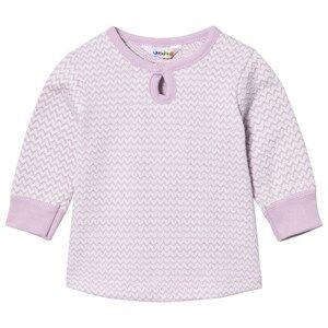 Joha Girls Tops Pink Zig Zag A-shape Sweater Lilac