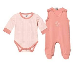 Image of Pippi Girls All in ones Pink 2-Pack Footed Baby Body/Baby Body Rose Dawn