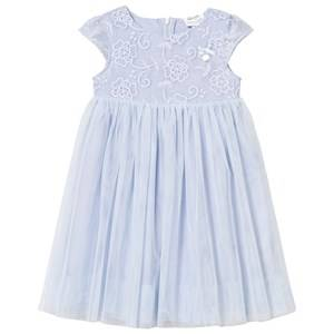 Image of Le Chic Girls Dresses Blue Ice Blue Tulle and Embroidered Ceremony Dress