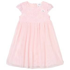 Image of Le Chic Girls Dresses Pink Pink Tulle and Embroidered Ceremony Dress