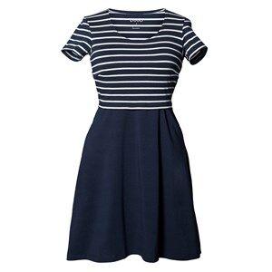 Image of Boob Girls Maternity dresses Multi Simone Dress Wide Skirt Stripe Midnight Blue/Off White