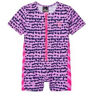 Image of Hummel Girls Swimwear and coverups Purple Drew Swimsuit Multi Colour