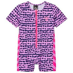 Hummel Girls Swimwear and coverups Purple Drew Swimsuit Multi Colour