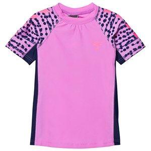 Hummel Girls Swimwear and coverups Purple Zap Swim Tee Rododendro