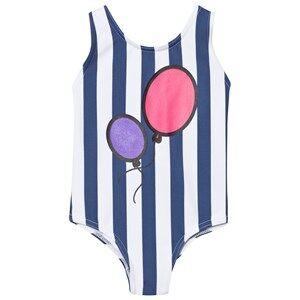 The BRAND Girls Private Label Swimwear and coverups Blue Hbd Swim Suit Blue Stripe