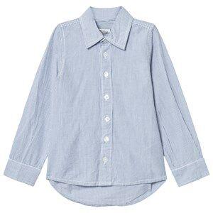 Minymo Boys Tops Blue Kirk 83 Shirt Stripe Coastal Fjord