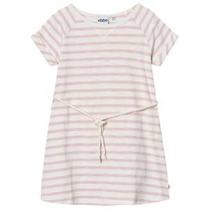 Image of eBBe Kids Girls Dresses Pink Daphne Dress Off White/Peachy Pink Stripe