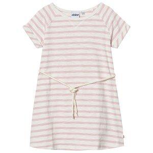 eBBe Kids Girls Dresses Pink Daphne Dress Off White/Peachy Pink Stripe