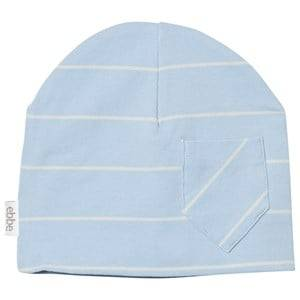 eBBe Kids Unisex Headwear Blue Extra Beanie Pale Sky/Off White Stripe
