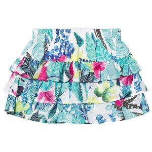 Catimini Girls Skirts Multi Multi Mint Jungle Floral Print Ruffle Skirt