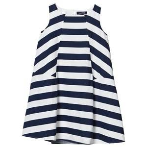Image of Lands End Girls Dresses Multi Multi Stripe Trapeze Woven Dress
