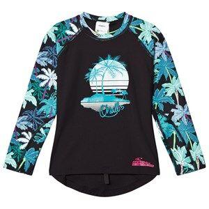 Image of Oneill Girls Swimwear and coverups Pink Pink Horizon Palm Rash Vest