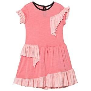 Image of No Added Sugar Girls Dresses Pink Pink Frill Detail Jersey Dress