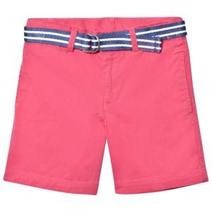 Ralph Lauren Boys Shorts Red Coral Classic Chino Shorts Belt