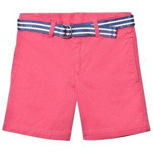 Ralph Lauren Boys Shorts Red Coral Classic Chino Shorts Belt