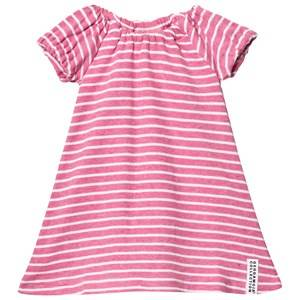 Image of Geggamoja Girls Dresses Pink Summer Singoalla Dress Pink Melange/White