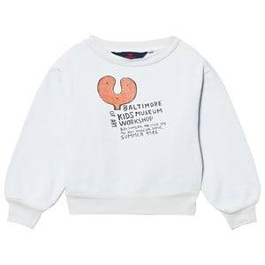 Image of The Animals Observatory Unisex Jumpers and knitwear Blue Bear Sweatshirt Light Blue Baltimore