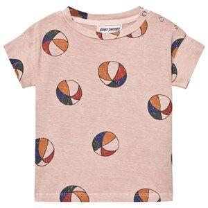 Bobo Choses Girls Tops Pink Basket Ball Baby T-Shirt Off Rose