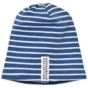 Geggamoja Unisex Commission Headwear Navy Topline Hat Marin Melange/White