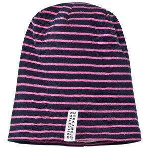 Geggamoja Girls Headwear Pink Topline Hat Navy/Pink