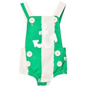 Noe & Zoe Berlin Unisex All in ones Green Green Stripe Sailor Romper